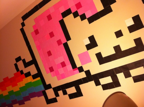 Nyan Cat wall!