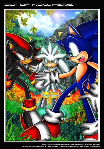 Silver the Hedgehog karatasi la kupamba ukuta containing anime titled Out of nowhere