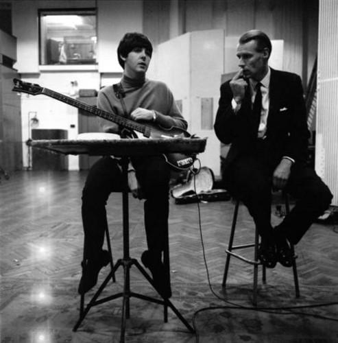 Paul McCartney and George Martin