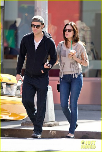Paul Wesley: NYC Stroll with Torrey DeVitto