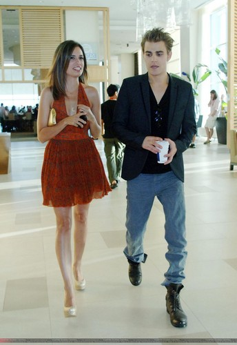 Paul and Torrey taking a walk through the halls of Comic-Con (July 22th, 2011) - paul-wesley-and-torrey-devitto Photo