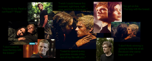 The Hunger Games wallpaper titled Peeta and Katniss