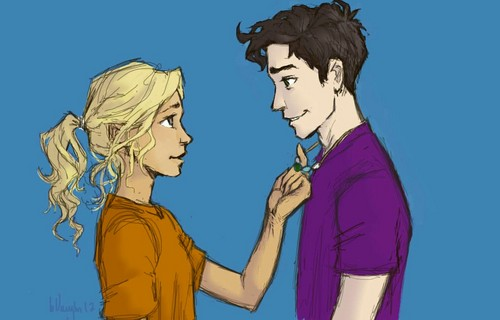 Helden des Olymp Hintergrund containing Anime titled Percabeth <3