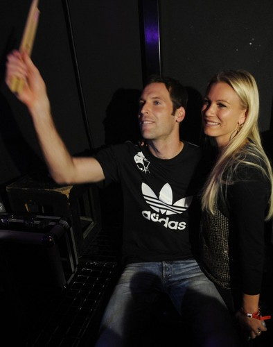 Petr Cech with wife - wags Photo
