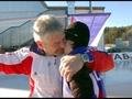 Petr embrace with Martina