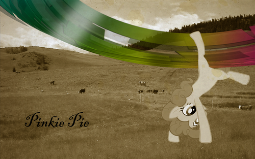 poni, pony Photoshop Project: Retro Pinkie Cartwheel