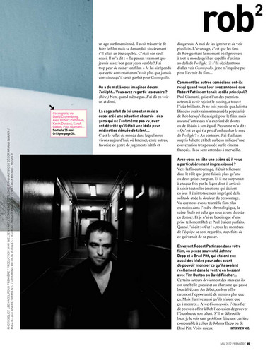 Premiere Magazine Scans 2012 - robert-pattinson Photo