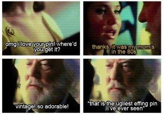 President Snow and Katniss