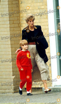 Princess Diana and her Sons 바탕화면 containing a 거리 titled Princess Diana and Prince Harry