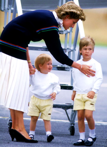 Princess Diana and her Sons 바탕화면 titled Princess Diana and the Princes