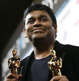 REHMAN with his Oscars