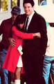 Rachel on set of Glee - goodbye episode - rachel-berry photo