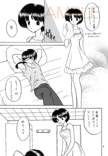 Ranma 1/2 wallpaper with anime entitled Ranma 1/2 Doujinshi 乱あ (Ranma and Akans-Passionate kiss)