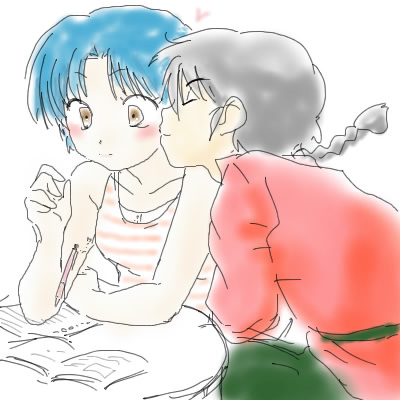 Ranma and Akane _ Sketches _ Mao