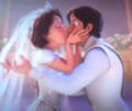 Rapunzel & Eugene wedding kiss