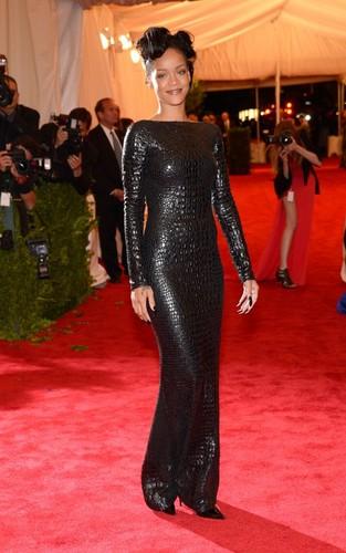 Rihanna at the 2012 Met Ball (May 7).