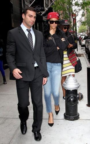 Rihanna leaving NBC Studios