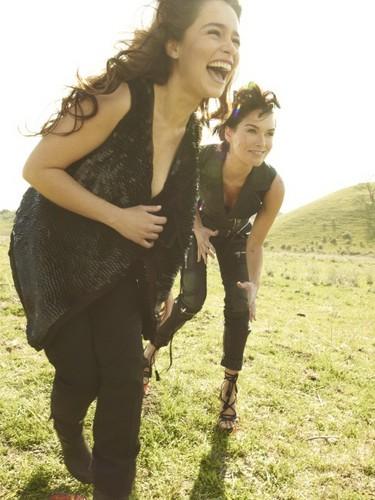 Emilia Clarke & Lena Headey- Rolling Stone Magazine Outtakes