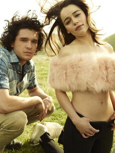 Emilia Clarke & Kit Harington- Rolling Stone Magazine Outtakes