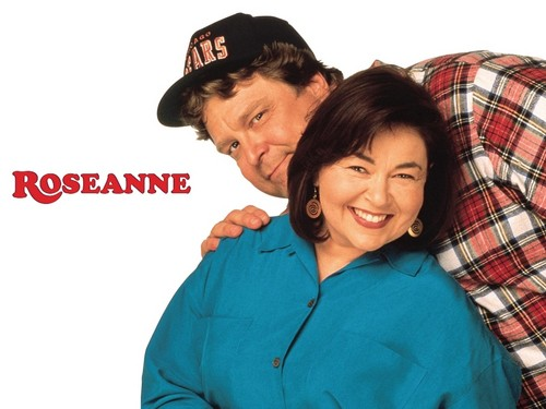 Roseanne achtergrond possibly with a sweatshirt, a leisure wear, and a sweat suit called Roseanne & Dan