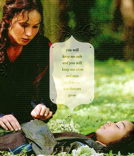 Rue and Katniss