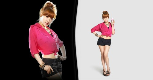 S♥NEISM wallpaper possibly containing a well dressed person and a legging called SNSD @ Yakult Korea LOOK