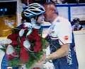 Sablikova and Novak kiss 2011