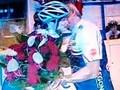 Sablikova and Novak kiss 2011..