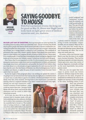 Scan EW magazine 18.may 2012 (spoliers) - house-md Photo