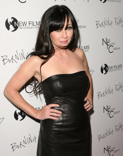 Shannen Doherty wallpaper probably with a dinner dress, a cocktail dress, and a strapless entitled Shannen - Premiere of New Films Cinemas Burning Palms, January 12, 2011