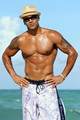 Shemar Moore Hits the Beach in Miami - shemar-moore photo