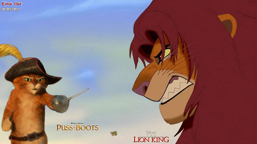 Simba Lion King VS Puss in boots
