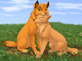 Simba and Nala as wolves