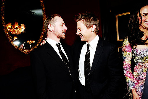 Simon Pegg images Simon Pegg and Jeremy Renner wallpaper and background photos
