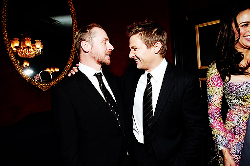 Simon Pegg and Jeremy Renner