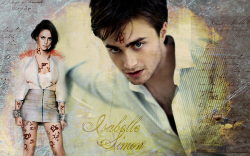 Mortal Instruments wallpaper with a portrait entitled Simon and Isabelle