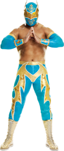 WWE Hintergrund probably containing a gasmask titled Sin Cara