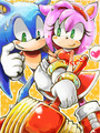 Sonic and Amy - sonic-and-amy fan art