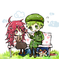 Flippy and Flaky again (with stalker Splendid) - happy-tree-friends photo