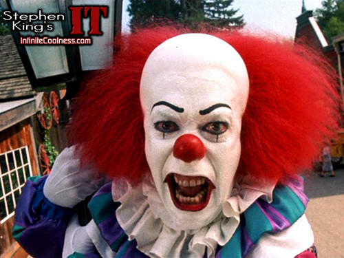 Horror films achtergrond titled Stephen King's IT