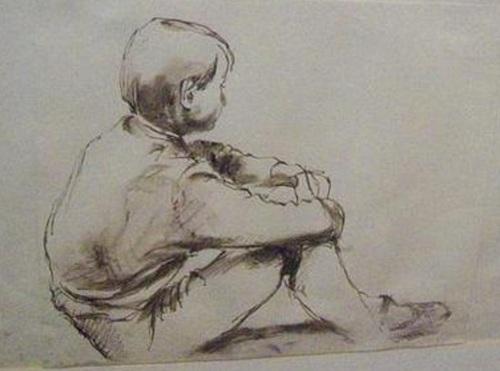Stuart's drawing of his sister Pauline