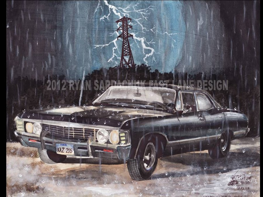Supernatural 1967 Chevy Impala Supernatural Fan Art