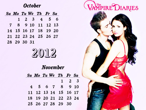 TVD 12( April-Dec) months Calendar EW photoshoot wallpaper oleh DaVe!!!!