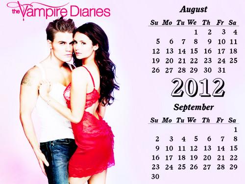 TVD 12( April-Dec) months Calendar EW photoshoot achtergrond door DaVe!!!!