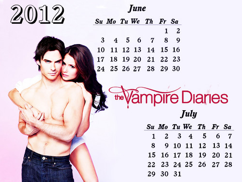 TVD 12( April-Dec) months Calendar EW photoshoot 바탕화면 의해 DaVe!!!!