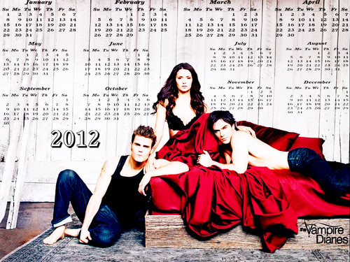 TVD 12( April-Dec) months Calendar EW photoshoot দেওয়ালপত্র দ্বারা DaVe!!!!