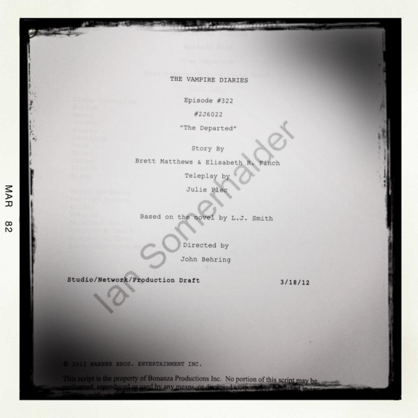 """TVD 3x22 """"The Departed"""" Script"""