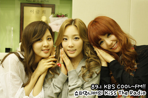 S♥NEISM wallpaper with a portrait titled Taeyeon Tiffany Seohyun @ KBS Cool FM Kiss The Radio