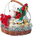 Teddy ours with gift pack