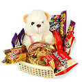 Teddy bear with gift pack